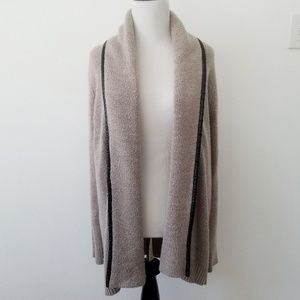 Merona Cardigan with Faux Leather Detailing